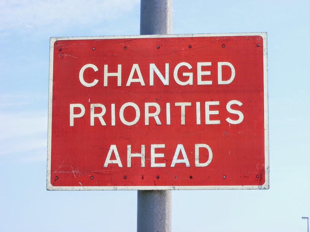 Changed Priorities Ahead Helen Chandler