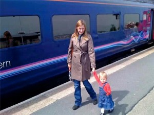 me, A and train