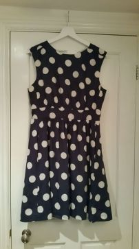 Lovely polka dot dress for me.